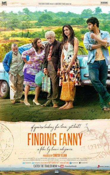Poster Of Hindi Movie Finding Fanny (2014) Free Download Full New Hindi Movie Watch Online At alldownloads4u.com