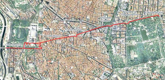 Eje ciclista Mayor-Alcalá - pincha en la imagen para verla ampliada
