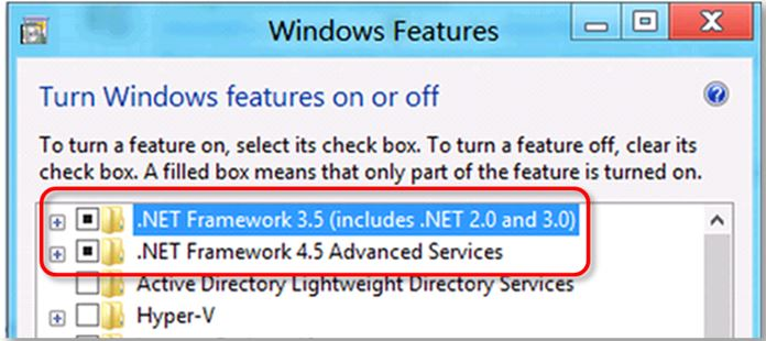 QuickBooks Component repair tool: windows features