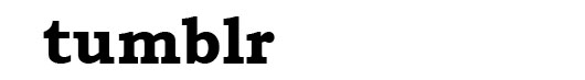 Bookman Old font logo Tumblr
