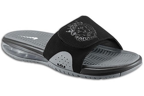 Nike Air LeBron Slide 8211 Wolf GreyBlack 8211 Available at Eastbay