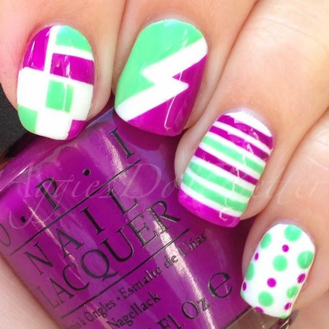 Aggies do it better opi neon quot beach towel nail art