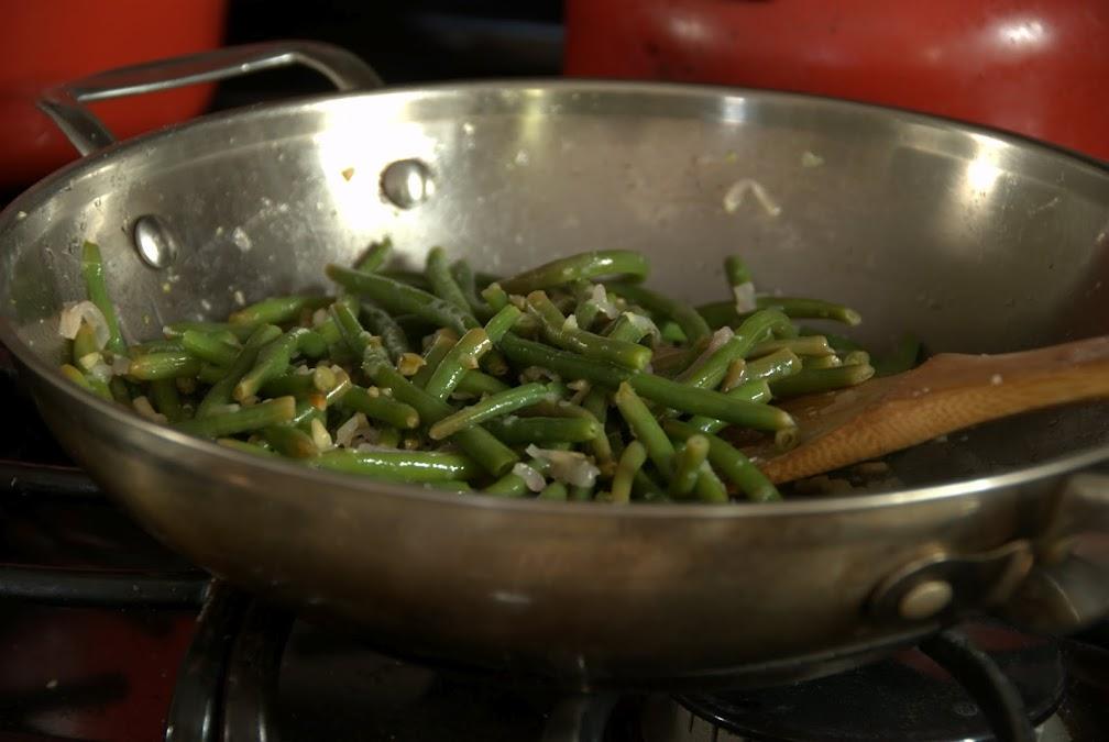 Haricot Vert on stove