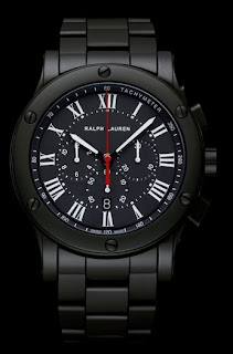 Montre Ralph Lauren Sporting Chronograph Black Ceramic 45mm