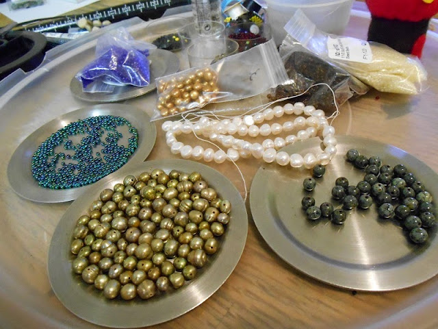 Pearl Beadwork in Progress