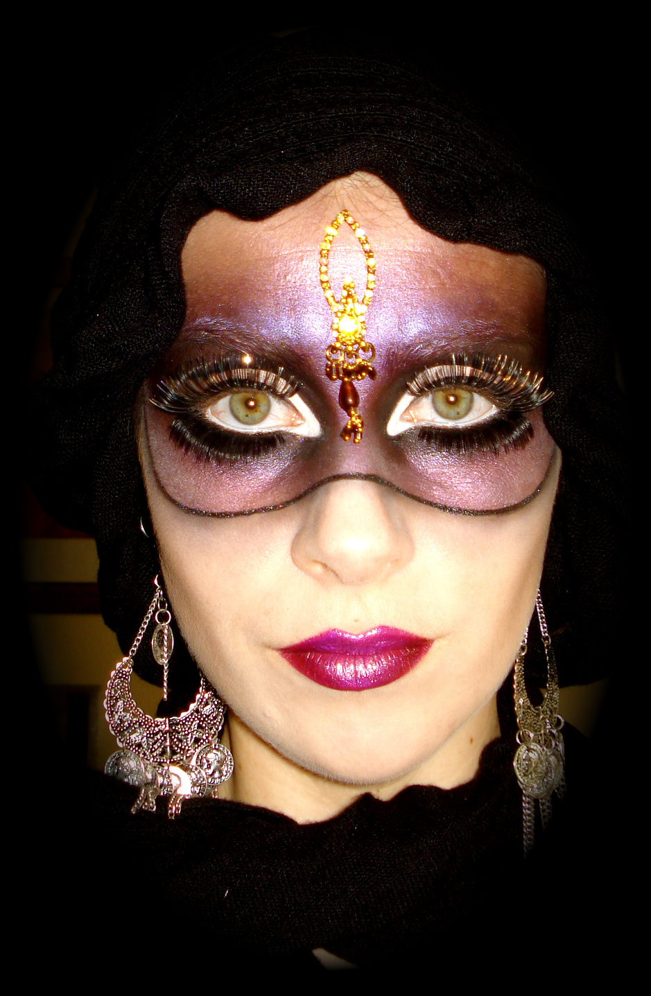 www.LetzMakeupBlog.com: Carnivále Mask Makeup Tutorial.