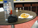 The table of desperation - a muffin was all I had for dinner that night