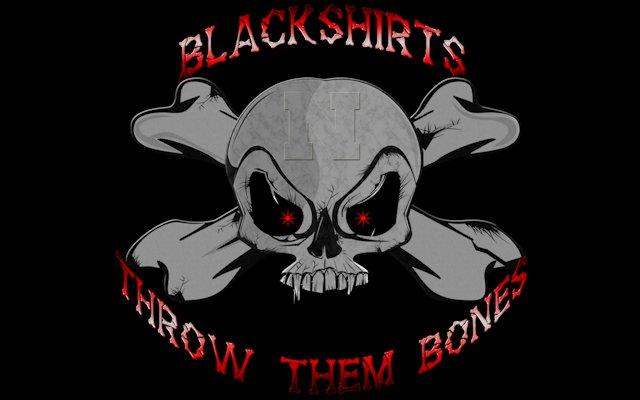 Blackshirts Throw Them Bones Skull Blackout