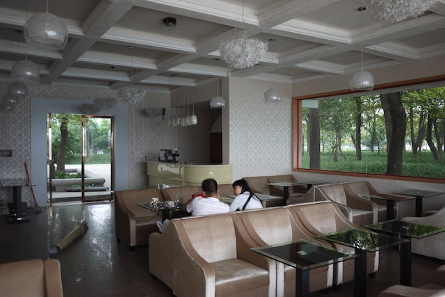 inside a cafe on Autumn Island in Changsha's LIeshi Park