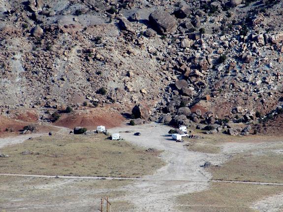Camp seen from Little Cedar Mountain