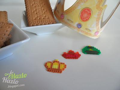 Cómo hacer coronas con hama beads.