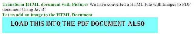 PDF File holding HTML Document with Images