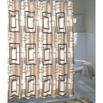 Carnation Home Fashions Lexington Extra Wide Printed Fabric Shower Curtain 108 Inch By 72
