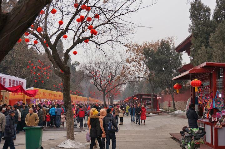 Feria cerca de la pagoda del ganso salvaje