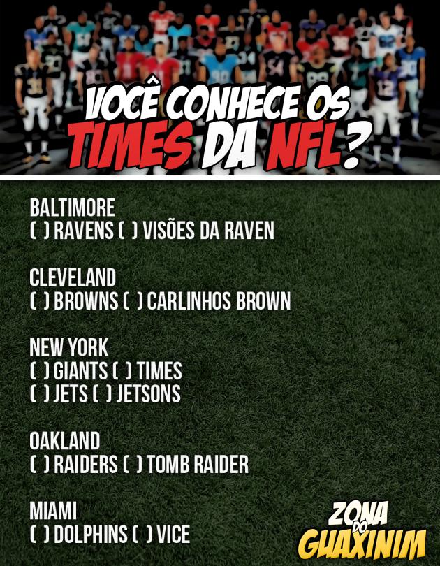 Você conhece os times da NFL?