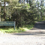 Turn off to Devils Hole camping ground