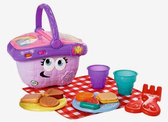 Đồ chơi Giỏ picnic màu hồng LeapFrog dười bàn tay bày biện khéo léo của bé