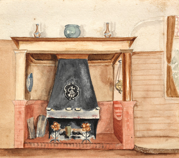 Fireplace in the New Room, Ingleholme, Turramurra, 1902