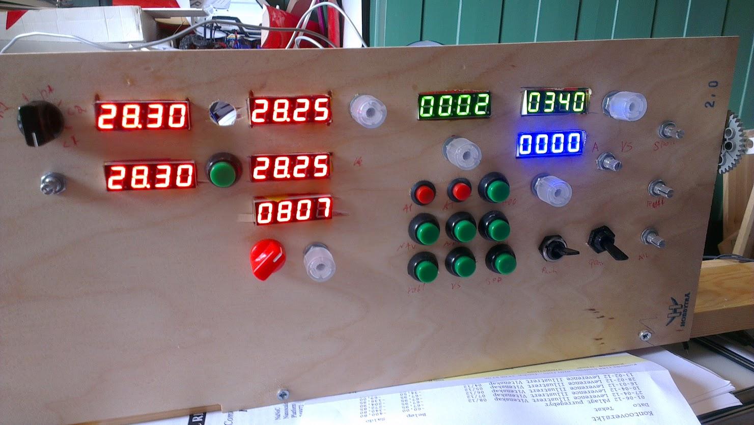 Prototype arduino driven panel