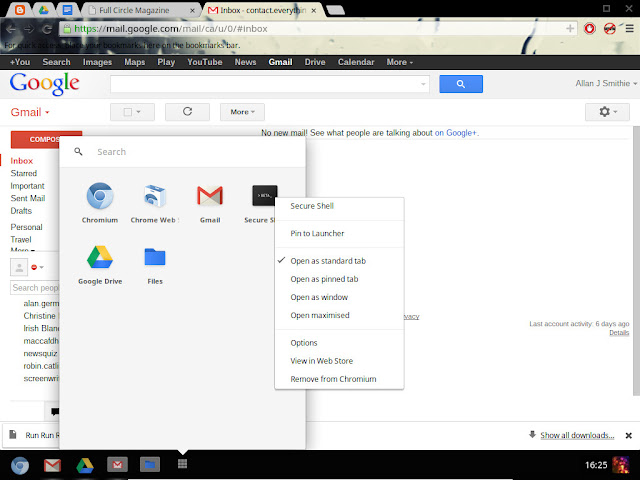 Chrome OS Pinning to launcher