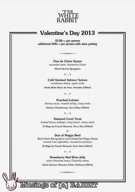 Valentine's Day 2013 Menu