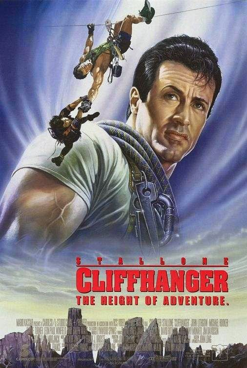 Poster Of Cliffhanger (1993) Full Movie Hindi Dubbed Free Download Watch Online At alldownloads4u.com