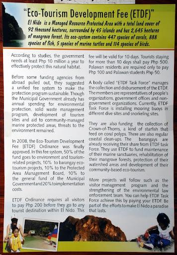 Eco-Tourism Development Fund (ETDF) El Nido, Palawan