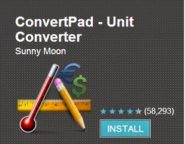 convert pad unit android app