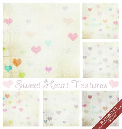 Vintage Sweet Heart Textures