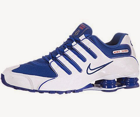 size 40 622fe 8ebcd Nike Shox NZ Mens Running Shoes Old Royal White-Old Royal 378341-404-8.5