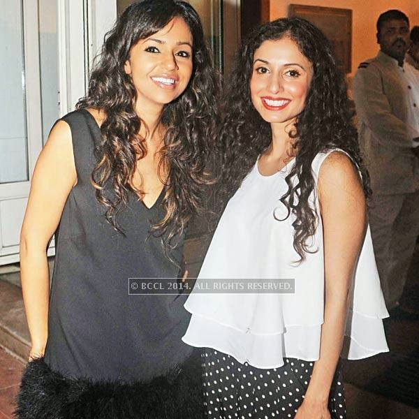 Nainika and Gauri during pre-show cocktail for Manish Arora's couture show at the French Embassy in Delhi.