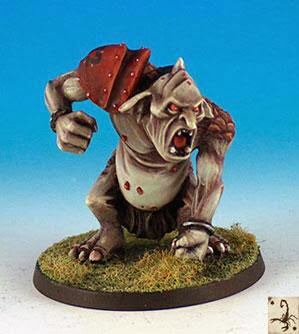 Blood Bowl Troll Black Scorpion miniatures