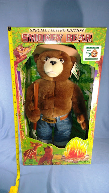 "Smokey Bear 1994 Special Limited Edition 21"" with Display Box - $40"