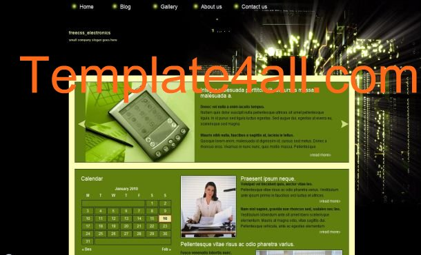 Black Green Technology Web CSS Template
