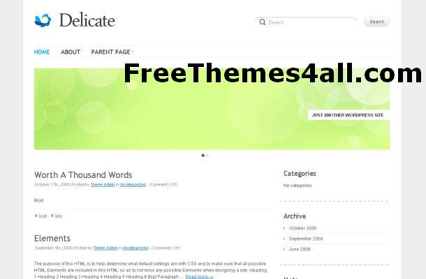 Free Minimal Wordpress Business Theme