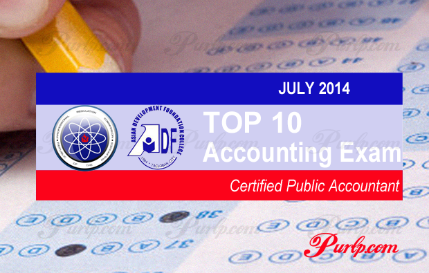 Top 10 July 2014 Accounting Exam Results