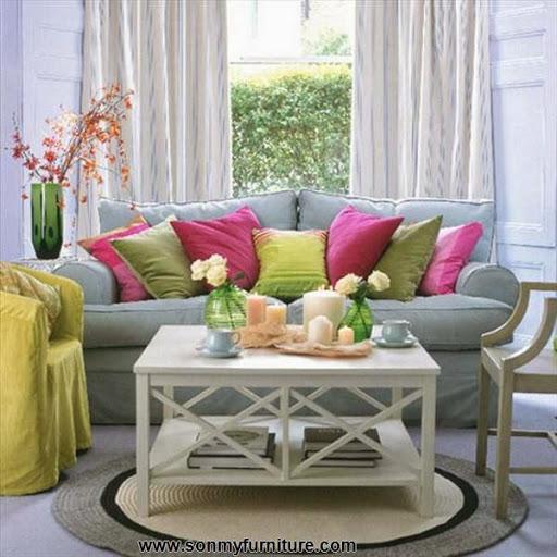 Phòng khách tươi mới đón mùa xuân hè_tin tức nội thất-3