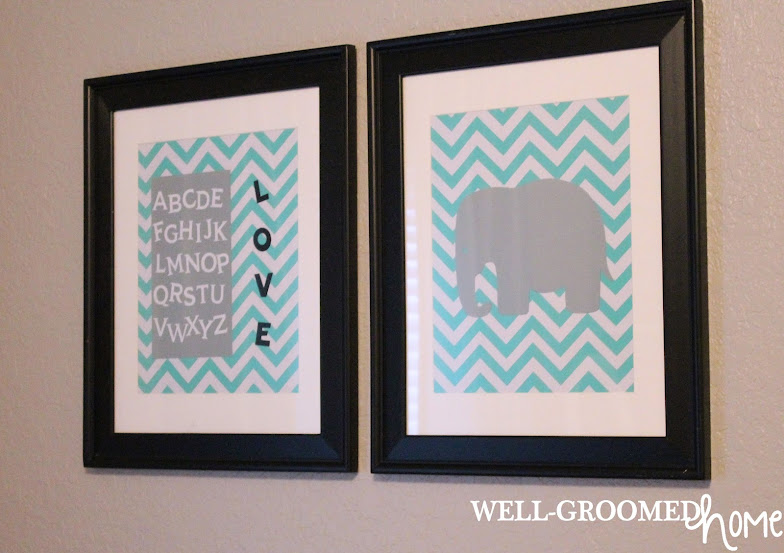 neutral nursery artwork