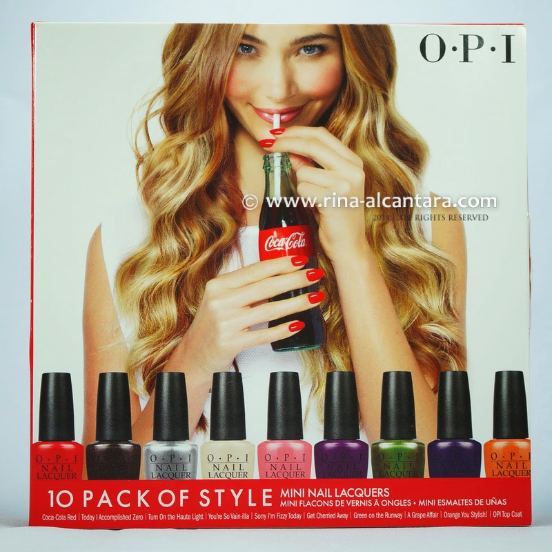 OPI 10 Pack of Sytle Mini Nail Lacquers
