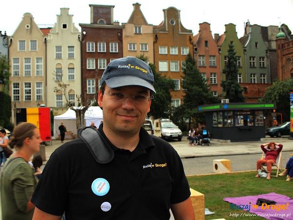 Maciej na dniu blogera w Gdańsku