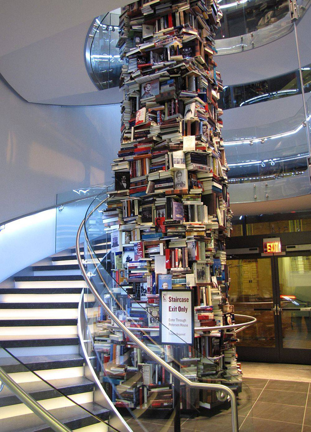 Tower of Books Features 15,000 Titles About Abraham Lincoln