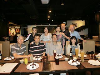梁宗岳再度訪港,2014年6月28日與同學在怡東酒店 Dickens Bar從事罪惡勾當