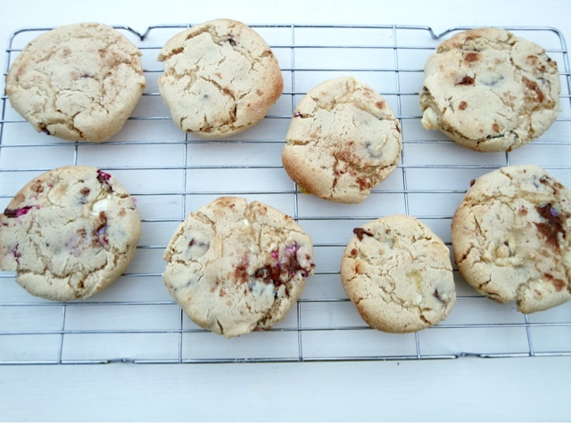 Vanilla, Chocolate and Berry Cookies