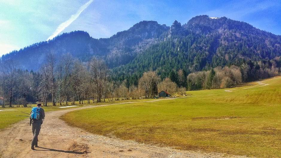 Start of the hike up the Brauneck in Bavaria