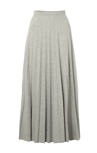 Primark Grey Pleated Maxi Skirt