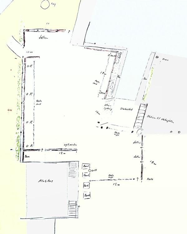 Dan Poulsens skitse over havnen