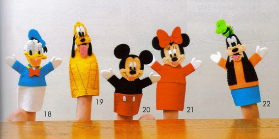 Dedoches da turma do Mickey