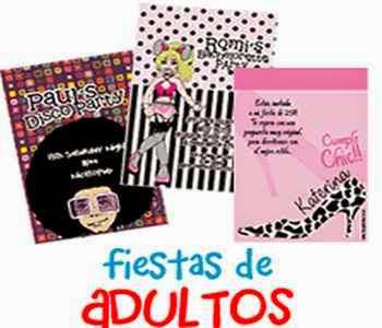 Invitaciones para fiesta temática para adultos