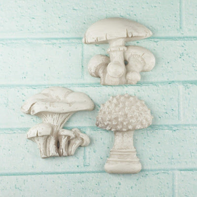 Mushroom Shabby Chic Resin Treasure By Prima Marketing