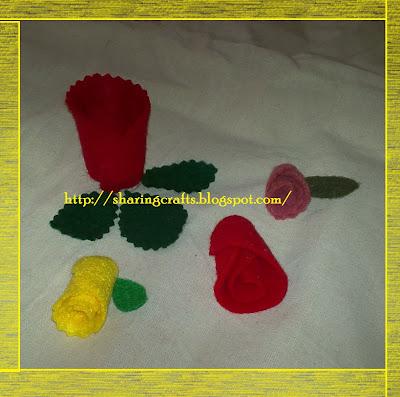 Ah como hacer manualidades sencillas paso a paso rosa de fieltro felt rose - Manualidades de fieltro paso a paso ...